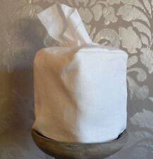 Mike and Ally Ivory Linen Fabric Boutique Tissue Box Cover