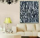 Retna Canvas Print, White/Black, 28x42, New