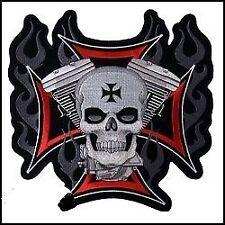 Écussons et patches skull pour motocyclette
