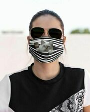 Birman Cat Stripes Face Mask Printed in Us Fits All Size Breathable Washable