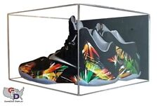 Acrylic Wall Mount Shoe Pair Display Case Shoes Size 12 and Under UV Protecting