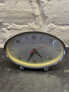 Vintage Wind Up Clock 1950's Good Working Order
