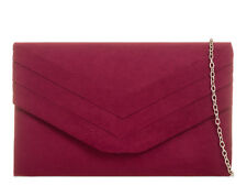 Ladies Pleated Faux Suede Envelope Clutch Bag Evening Party Prom Handbag KL809