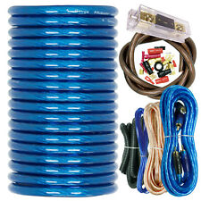 X-Brand True 4 Gauge Amp Kit Amplifier Install Wiring 4 Ga Wire Cable 3000W Blue