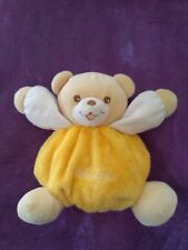 doudou ours boule jaune TAKINOU 16CM
