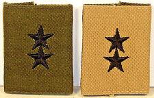 US Army Major General MAJ GEN Subdued Khaki Gore-Tex Rank Insignia for BDUs