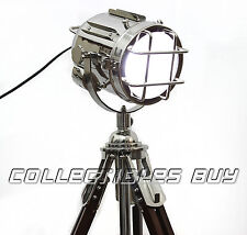 NEW Telescopic tripod LED Searchlight Designer vintage style Low floor lamp Gift