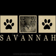 Savannah Cat Portrait T-Shirt Tee - Men Women's Youth Tank Short Long Sleeve