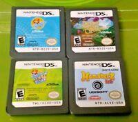 Nintendo DS Lite 2ds 3ds Games Lot Petz Hamsterz Zhu ZHu Pets 1, 2, + Quest For