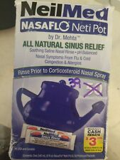 NEILMED NASAFLO NETI POT NATURAL SINUS RELIEF NASAL FLU COLD ALLERGY CONGEST 39P