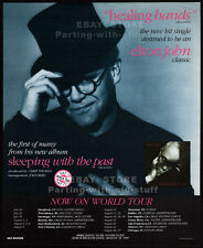 ELTON JOHN__Original 1989 Trade AD/ poster__Healing Hands_Sleeping With The Past