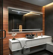 Espejo de baño moderno e iluminado, fabricado a medida con marco luminoso LED 23