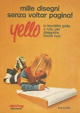 X1906 YELLO la tavoletta gialla a rullo - Pubblicità del 1976 - Vintage advert