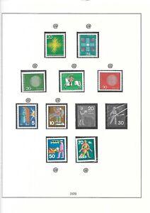 35 Rare German Stamps (1949-1970) (mounted in Lindner Falzlos Album Nr.120b)