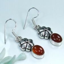 Fine silver 925 natural carnelian gemstone earrings ! Gift Jewelry and Love