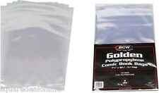 (100) BCW GOL Golden Age Size Clear Comic Sleeves Bags Covers Polypropylene NEW