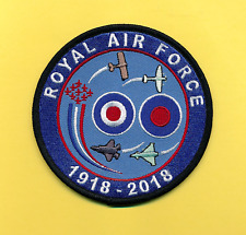 RAF100 1918-2018  embroidered aviation patch (New) - Just Arrived!