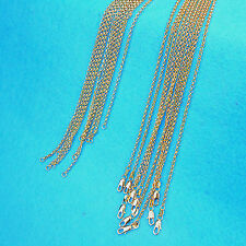 """Gold Filled Cross Necklaces Chains Pendants 22"""" 5X Wholesale Fashion Jewelry 18K"""