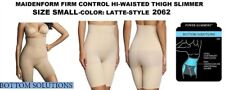 MAIDENFORM SHAPE WEAR FIRM CONTROL THIGH SLIMMER SIZE SMALL STYLE 2062 NEW