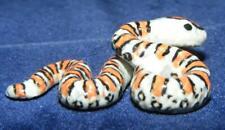 More details for klima miniature porcelain animal figure snake with orange stripes m151