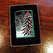 Zippo Lighter Snow Christmas Tree 2010 Design