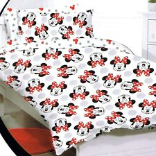 Minnie Mouse - Disney - Faces - Queen Bed Quilt Doona Duvet Cover Set