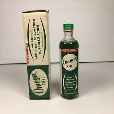 Vintage Omega Oil In Original packaging with Bottle Paper & Box