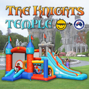 Happy Hop Knights Temple Jumping Castle Bounce House - 9021