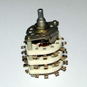 Rotary Switch 3A 350V Ceramic 9P3T 9-pole 3 throw 3-position Silver Contacts