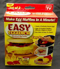 Easy Eggwich, Set of 2. Like Egg McMuffin in 1 Minute Microwave Omelette Ma