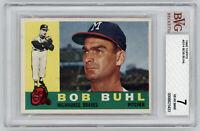 1960 BRAVES Bob Buhl Topps card #374 BVG 7 NEAR MINT Beckett Vintage Milwaukee