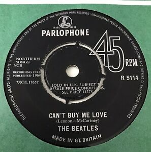 """THE BEATLES - 1964 - """"CAN'T BUY ME LOVE"""" - 1st pressing Parlophone - R5114 *EX*"""