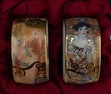 2 Gustav Klimt Porzellan Serviettenringe mit edlem Motiv - Ohne OVP !!! Nr.5