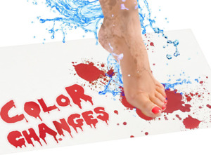 Bloody Bath Mat – Color Changing Mat Really Turns Red When Wet, Dries White