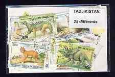 Tadjikistan 25 timbres différents