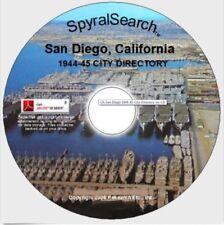CA - San Diego 1944-45 City Directory on CD
