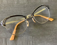 Vintage MC CM 1/10 12K GF Cat Eye Glasses Cateye Frames Antique Original Great