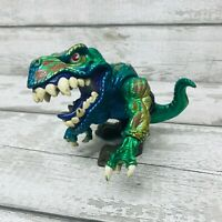 Vintage 1996 Mattel Extreme Dinosaurs Metallic T-Bone T Rex Action Figure