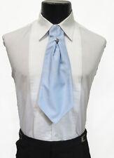 Men's Light Blue Ascot / Cravat Tie Victorian Theater Edwardian Morning Dress