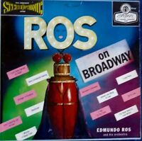 """""""Ros on Broadway"""" Edmundo Ros & Orchestra 33 LP Vinyl  Broadway Musical Songs"""