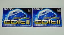 Deux cassettes Audio Vierge TDK Metal ma 60 neuves