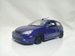maisto 1/24 FORD FOCUS SVT Blue lowered new wheels Modified diecast car