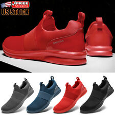 Men's Running Sneakers Outdoor Athletic Walking Shoes Slip on Tennis Fitness Gym