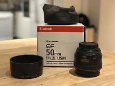 Canon EF 50 mm F/1.2 Objectif L USM, avec Uv & les filtres ND
