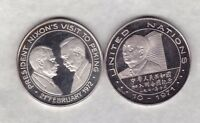 1971/1972 PRESIDENT NIXON'S VISIT TO PEKING SILVER MEDAL IN NEAR MINT CONDITION