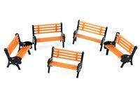 5Pcs 1:100 HO Scale Model Bench Chair Train Platform Garden Park Street Scenery