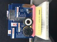 VAUXHALL CORSA C MK3 1.3 DIESEL CDTI AIR+OIL+CABIN+FUEL FILTER BOSCH SERVICE KIT