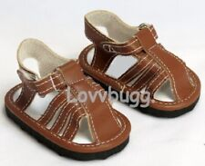 Brown Fisherman Sandals for American Girl or Boy 18 inch Doll Shoes TRULY US 🐞