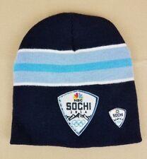 Hat & Pin SOCHI 2014 Winter Olympics NBC Blue Striped Winter Warm Pull On Hat