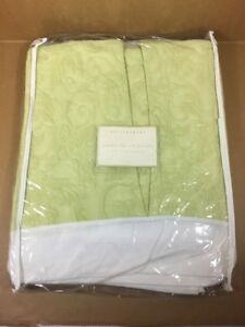 "Pottery Barn - TWIN - 14"" Bed Skirt - Chloe Floral Bedskirt -Color Key Lime?"